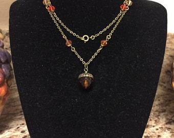 Autumn Acorn Necklace