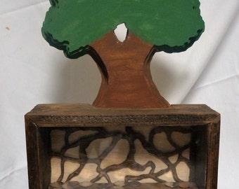 3-D Tree Bank, Wood Cut Layerd Bank,