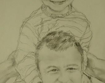 Custom portrait, baby, child, family portrait