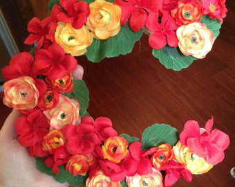 Custom Floral Wooden Letters