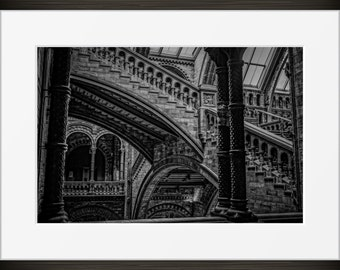 Staircase Stairs Print Classic London Architecture Photo Black And White Photography Fine Art
