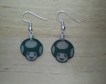 Earrings kawaii Green Toad