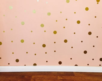 Polka Dot Wall Decals - Removable vinyl wall decals/stickers