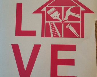 Handyman LOVE Decal/Independent Contractor/Home Improvement/DIY/Construction
