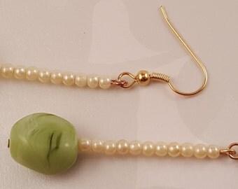 Simple Green Earrings