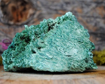 Fibrous Green Malachite Crystal Specimen   - 1240.09