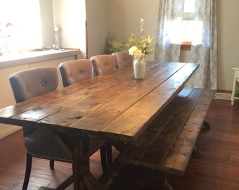 Farmhouse Table, Farm Table, Long Farmhouse Table, Rustic Table, Rustic  Wedding,