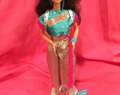 """Vintage 1986 """"Real Dancing Action"""" Dana Doll   Barbie and the Rockers  """