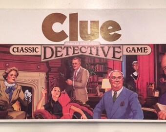 Complete, 1986 Parker Brothers Clue Vintage Board Game