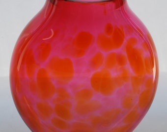 Glass Vase - Red