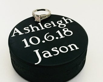 Hockey Save the Date | Unique Save the Date | Hockey Engagement | Hockey Wedding | Save the Date Prop | Engagement Prop | Sports Wedding