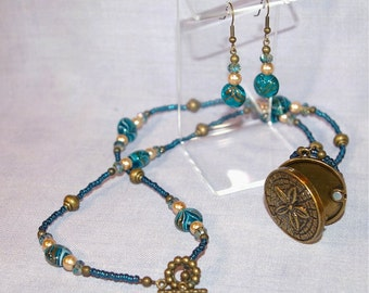 Sea Inspired Necklace and Earrings set
