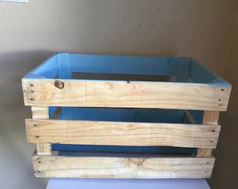 Bright Blue Crate