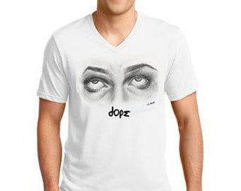 Dope - Men's Cotton V-Neck Tee from Casey Rose Keith