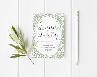 Dinner party invite Etsy