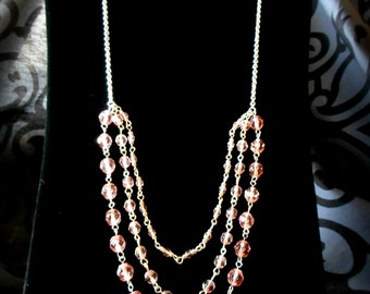 Layered Rose Necklace