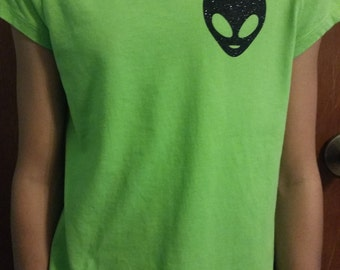 Girls Alien Head T-shirt