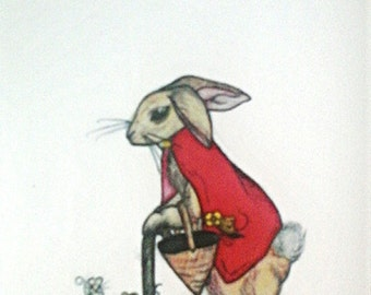 Old Rabbit with Mice Friends