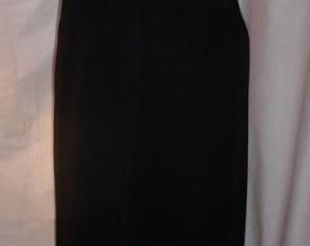 Long black dress vintage flare, evening dress