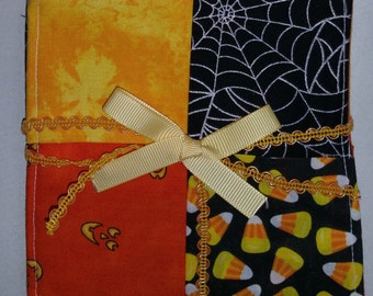 Set of 4 Halloween Quilted Coasters