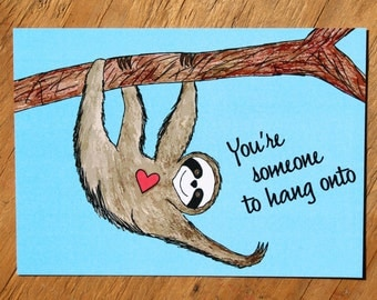 Sloth Love Postcard