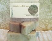 Cedarwood & Sage Soap, Natural Soap, Handcrafted Soap, Bar Soap, Men's Soap