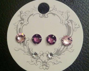 Swarovski Xilion/Xirius rose design earrings