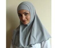 Cloud color Hijab Two Piece,Al Amira style, bone color Hijab, Scarf handmade, cotton hijab, prayer scarf, islamic scarf, eid gift