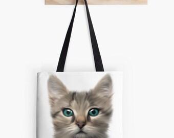 Priscilla Cat tote Bag