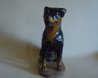 Primitive Folk Art Carved Wood Dog
