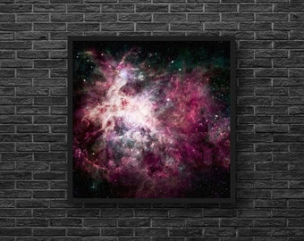 Galaxy Print - Universe Photo - Astronomy Print - Stars - Sky Photography - Galaxy Wall Decor - Sky Wall Decor - Square Photo - 8x8 - 12x12