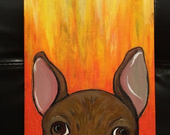 Frenchie (9x6) Acrylic Painting