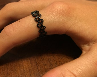 Black Elastic Ring