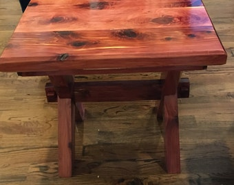 Luxury High End Furniture - Aromatic Cedar Hand Made Accent Designer Table