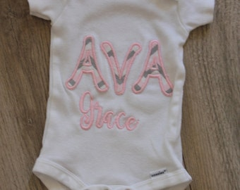 Personalized Onesie/Personalized Name Applique