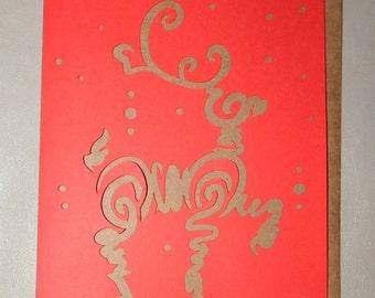 Reindeer Christmas Card (pack of 5)
