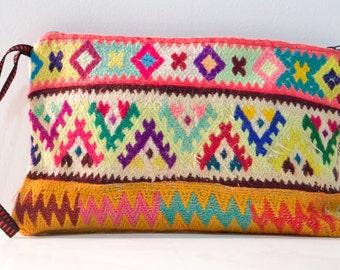 Ethnic handbag, Vintage clutch, Peruvian Clutch, bohemian, artisan clutch, gypsy clutch, hipster handmade bag, boho clutch, FREE SHIPPING
