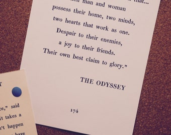 Medium The Odyssey Husband Wife Home Quote, Printable Art, Book Page Design - *DIGITAL DOWNLOAD* (11x14, 16x20, AND 20x24)