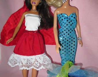 Barbie Doll Halloween Costumes -Mermaid and Red Riding Hood-Free shipping
