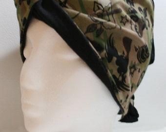 Camouflage with black recycled t-shirt lining Vlasy Tee