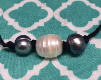 Triple Fresh Water Pearl Necklace