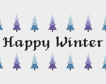 Happy Winter - Cross Stitch Pattern