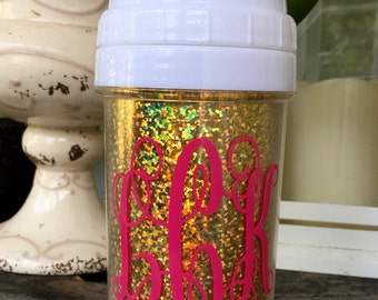 Monogrammed Spill Proof Glitter Sippy Cup