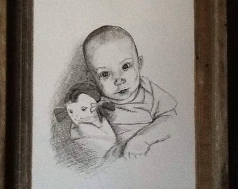 Custom Ink children's portrait