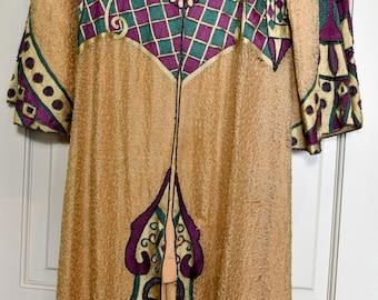 Gustav Klimt Art Deco style Antique Caftan Tribal Coat