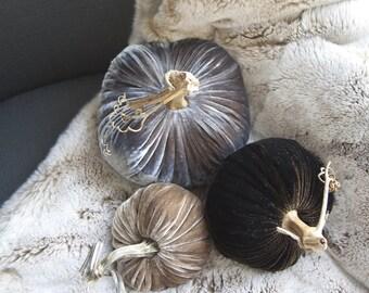 Velvet Pumpkins: Earth Collection