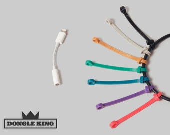 Tether for Apple Lightning to Headphone Jack Adapter - iPhone Dongle