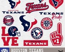 HOUSTON TEXANS SVG logos, monogram silhouette, cricut, cameo, screen printing Sp-27