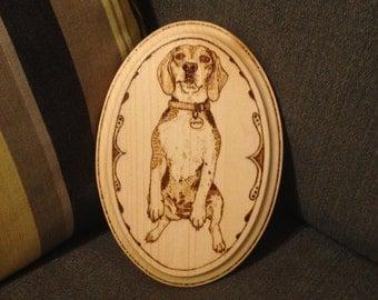 Custom Pyrograph Pet Piece