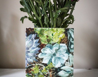 "Watercolor Original Succulents ""Little Greens"" Giclee Print"